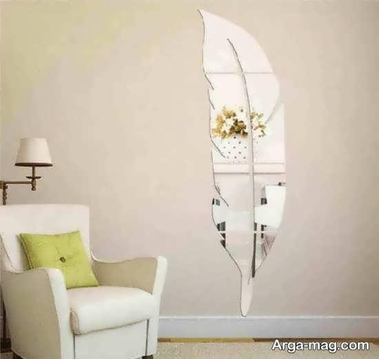 نمونه هایی زیبا و بینظیر از دیزاین دیوار با آینه