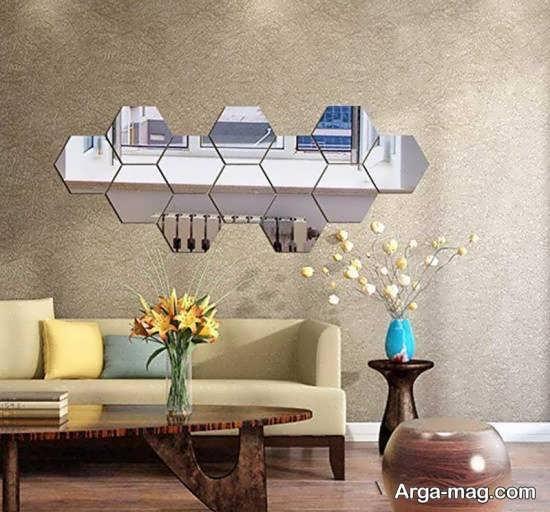 طراحی های زیبا و منحصر به فرد دیوار با آینه