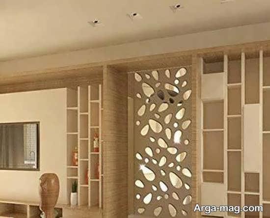 الگوهایی زیبا و شیک از تزیینات دیوار با آینه