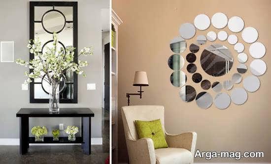 تزیینات زیبا و جذاب دیوار با آینه