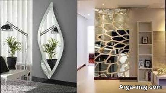 نمونه هایی ایده آل و شیک از دیزاین دیوار با آینه