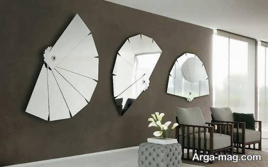 تزیینات و زیباسازی دیوار با آینه