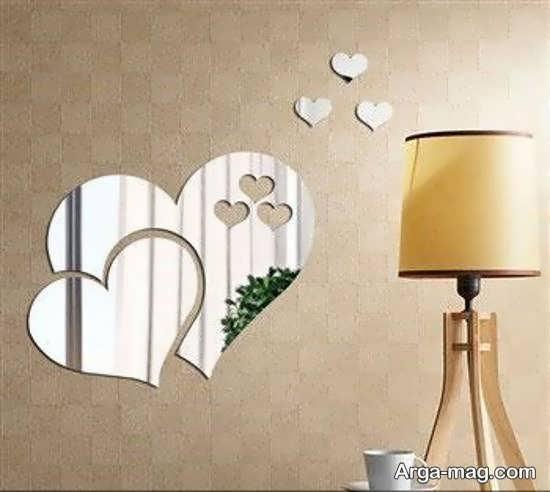 ایده های رمانتیک و فانتزی از دیزاین دیوار با آینه