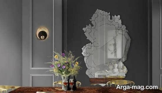 انواع الگوهای زیباسازی و طراحی دیوار با آینه