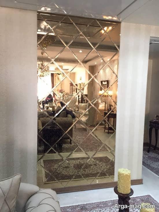 ایده هایی زیبا از دیزاین دیوار با آینه