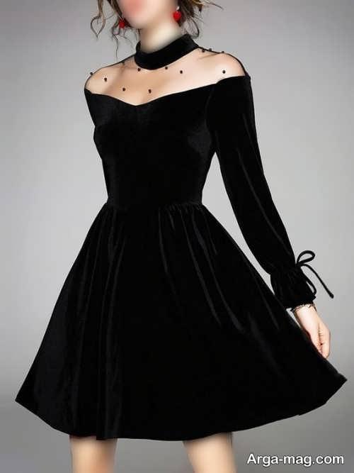 مدل لباس مجلسی تینیجر شیک و مشکی