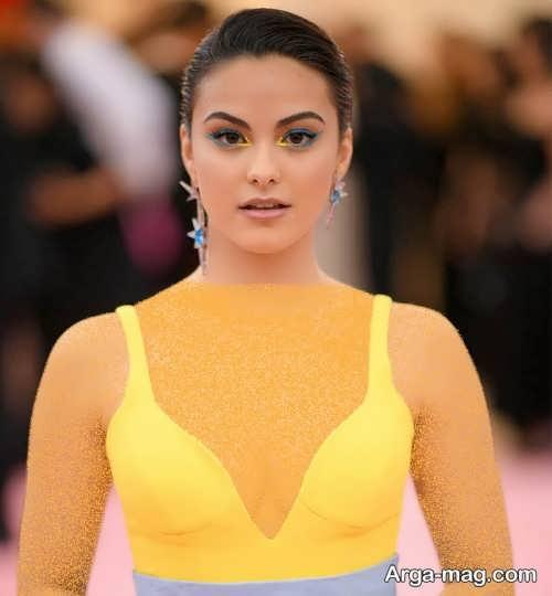 مدل های آرایش صورت برای لباس زرد