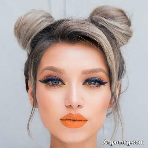 آرایش صورت با رژ نارنجی