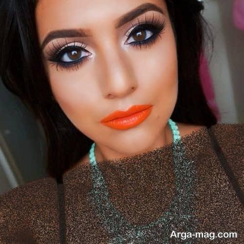آرایش با رژ نارنجی
