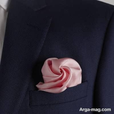 معرفی روش تا کردن دستمال جیبی
