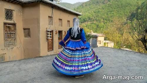 لباس آبی گیلانی