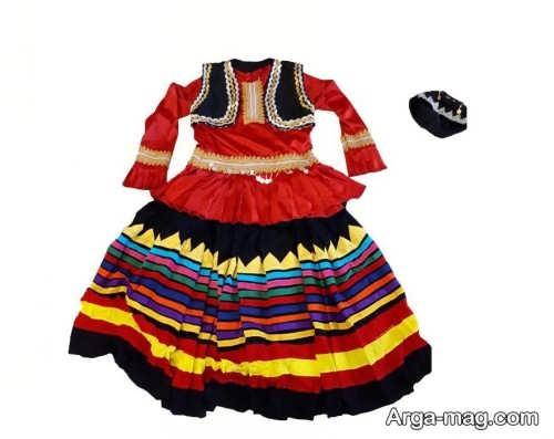 لباس محلی زنانه گیلانی شیک و رنگی