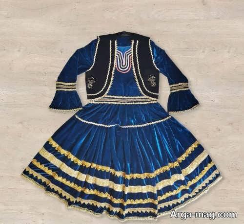 مدل لباس محلی گیلانی آبی