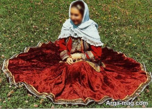 لباس محلی قرمز گیلانی
