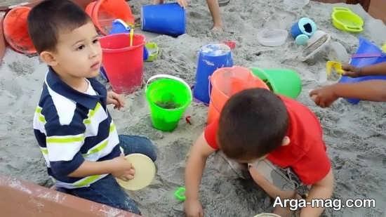 فواید شن بازی برای بچه ها
