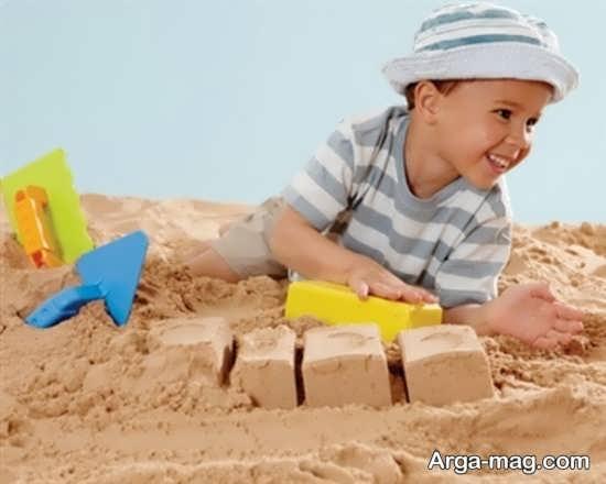 اهمیت بازی با شن و ماسه برای بچه ها