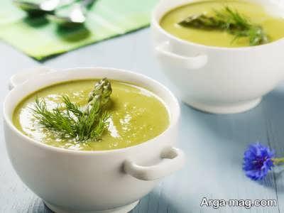 اموزش شیوه ی تهیه سوپ مارچوبه