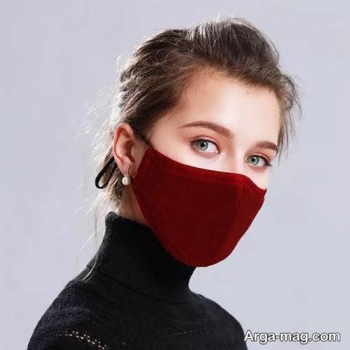 آرایش دخترانه برای ماسک زرشکی