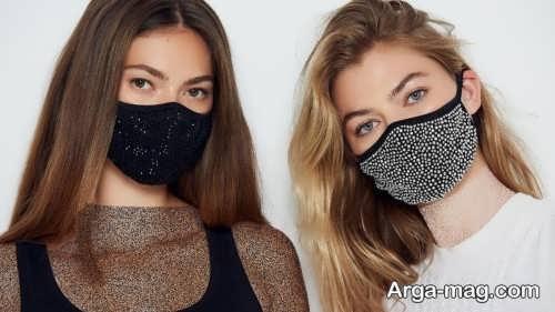 مدل آرایش مخصوص ماسک طرح دار و ساده