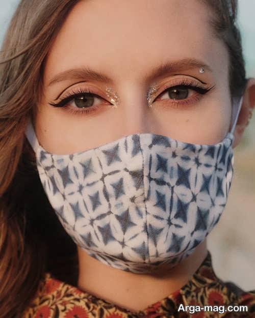 مدل آرایش با ماسک