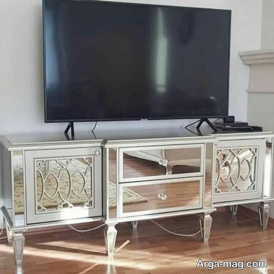 آشنایی با الگوهایی زیبا و متفاوت از میز تلویزیون آینه ای