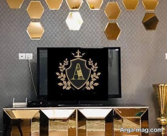 مشاهده تصاویر شیکی از مدل میز تلویزیون آینه ای