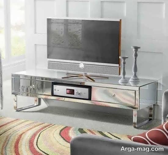 انواع ایده ها و الگوهای خارق العاده و خلاقانه مدل میز تلویزیون آینه ای
