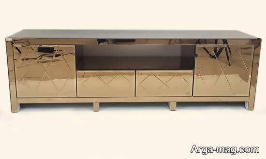 نمونه هایی زیبا و منحصر به فرد از میز تلویزیون آینه ای