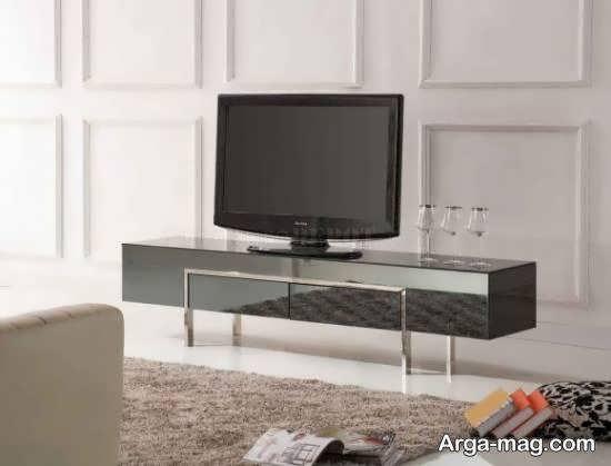 مدل میز tv آینه ای با طرح ها و اشکال متنوع