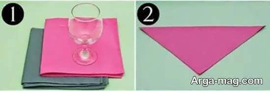 دستمال سفره داخل لیوان