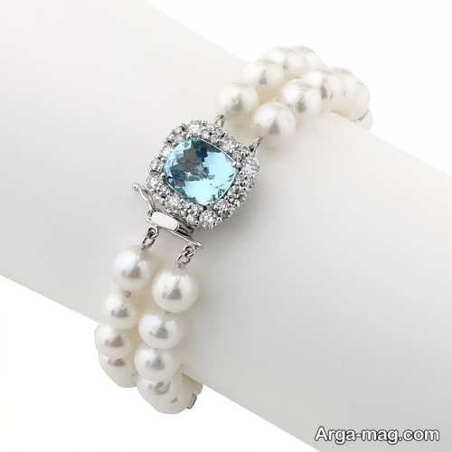 مدل دستبند مرواریدی سفید
