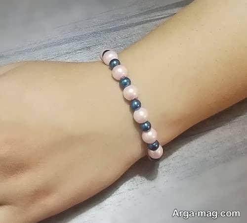 دستبند مرواریدی دو رنگ