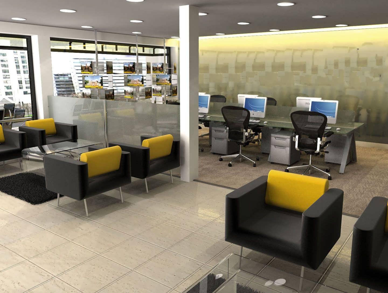 ایده هایی زیبا و بینظیر از دیزاین دفتر املاک