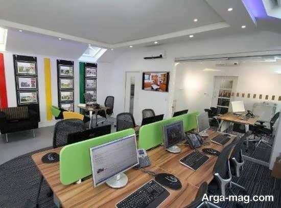 طراحی زیبا و خارق العاده ی دفتر املاک