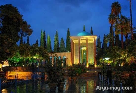 بازدید از مرقد سعدی در شیراز