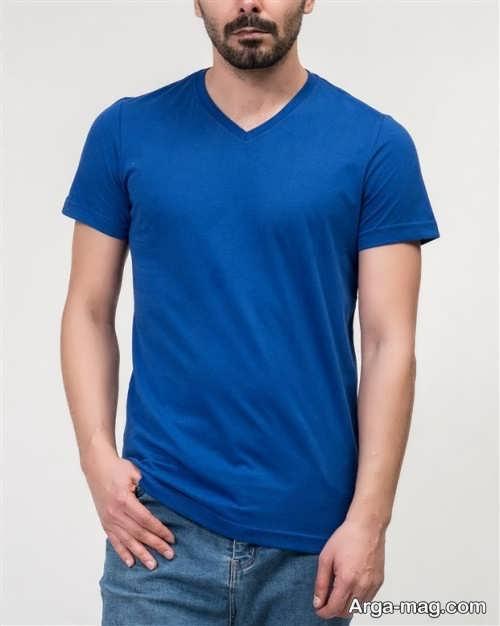 تیشرت آبی مردانه