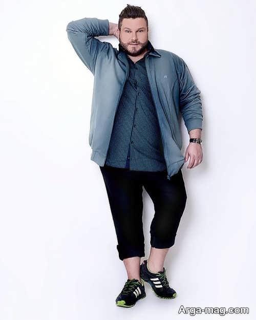 طرح لباس اسپرت برای مردان چاق