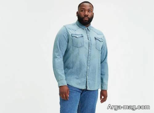 مدل پیراهن و شلوار لی برای افراد چاق