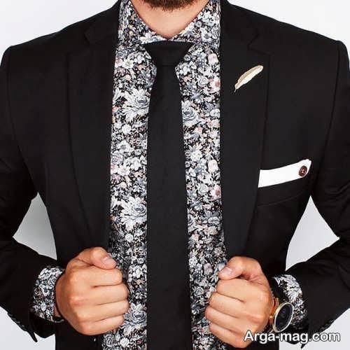کراوات مشکی برای کت شلوار مشکی