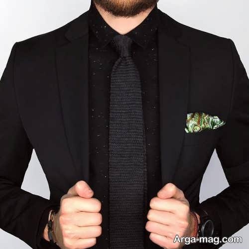 کراوات ساده مناسب کت شلوار مشکی
