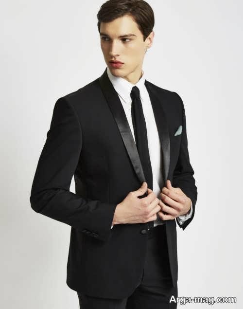 کراوات مشکی برای کت مشکی