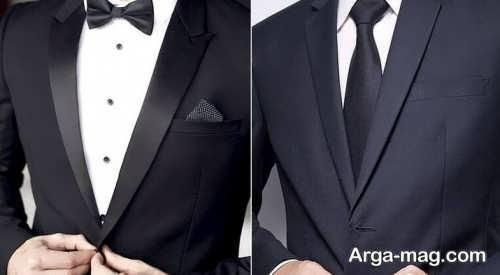 کراوات مشکی برای کت و شلوار مشکی