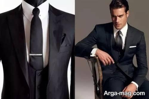 کراوات مناسب کت شلوار مشکی