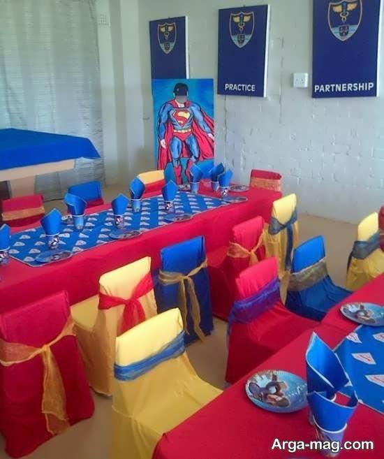 انواع ایده های زیبا و جذاب تم تولد سوپرمن