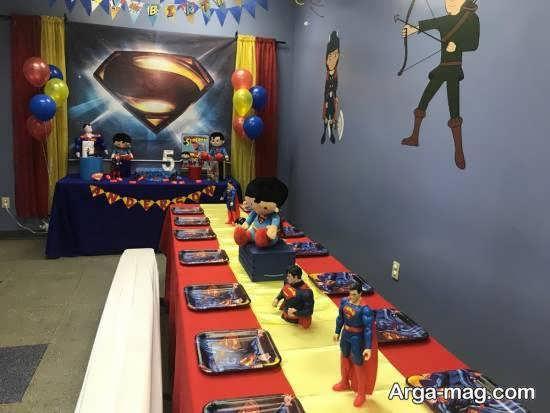 طراحی جشن زادروز کودکان با تم سوپرمن