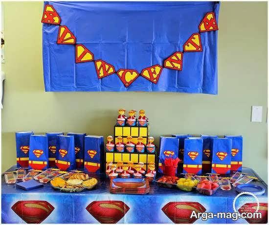 زیباسازی و دیزاین جشن میلاد با استفاده از تم سوپرمن