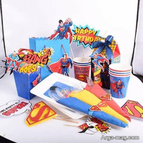 انواع نمونه های زیبا و لاکچری تم تولد سوپرمن