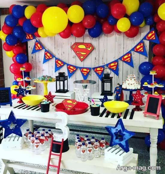 ایده هایی کاربردی و زیبا از تم تولد سوپرمن