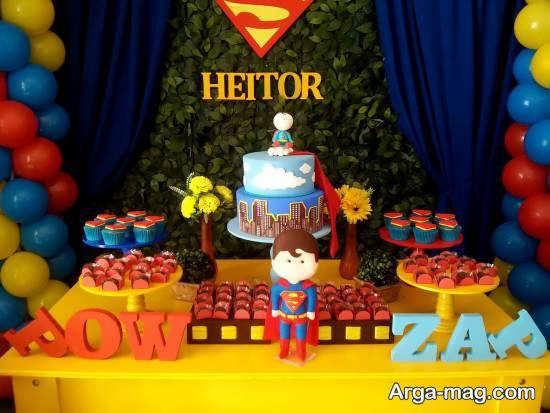 دیزاین جشن تولد با استفاده از تم سوپرمن