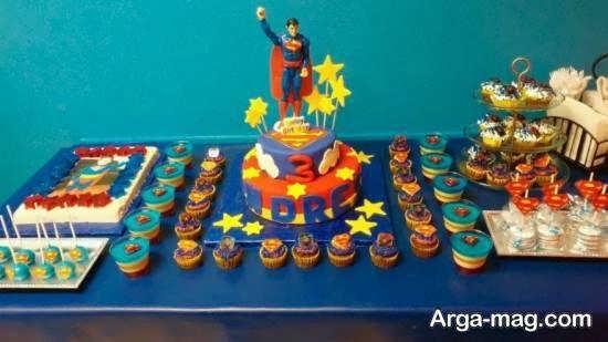 دیزاین جشن تولد با طرح سوپرمن